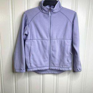 L.L. Bean Full Zip Fleece Jacket Girl 10/12 Purple